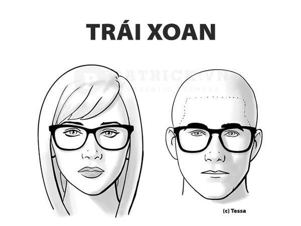 chọn kính phù hợp khuôn mặt trái xoan