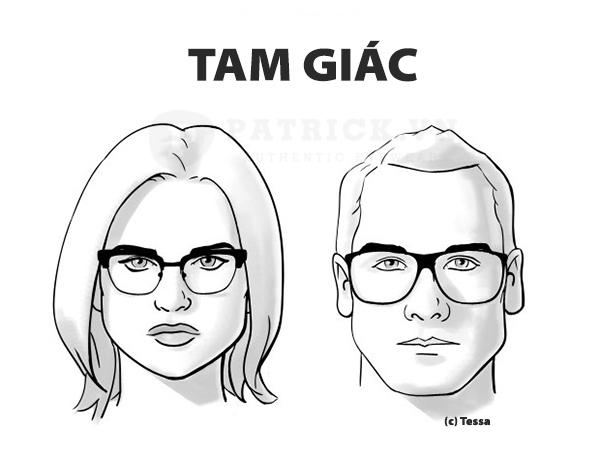 cách chọn kính phù hợp khuôn mặt dài