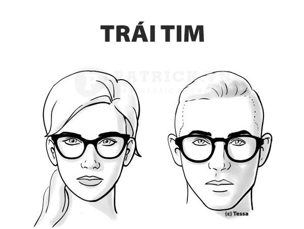 cách chọn kính mặt nhọn