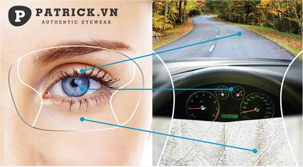kính đa tròng lái xe ô tô